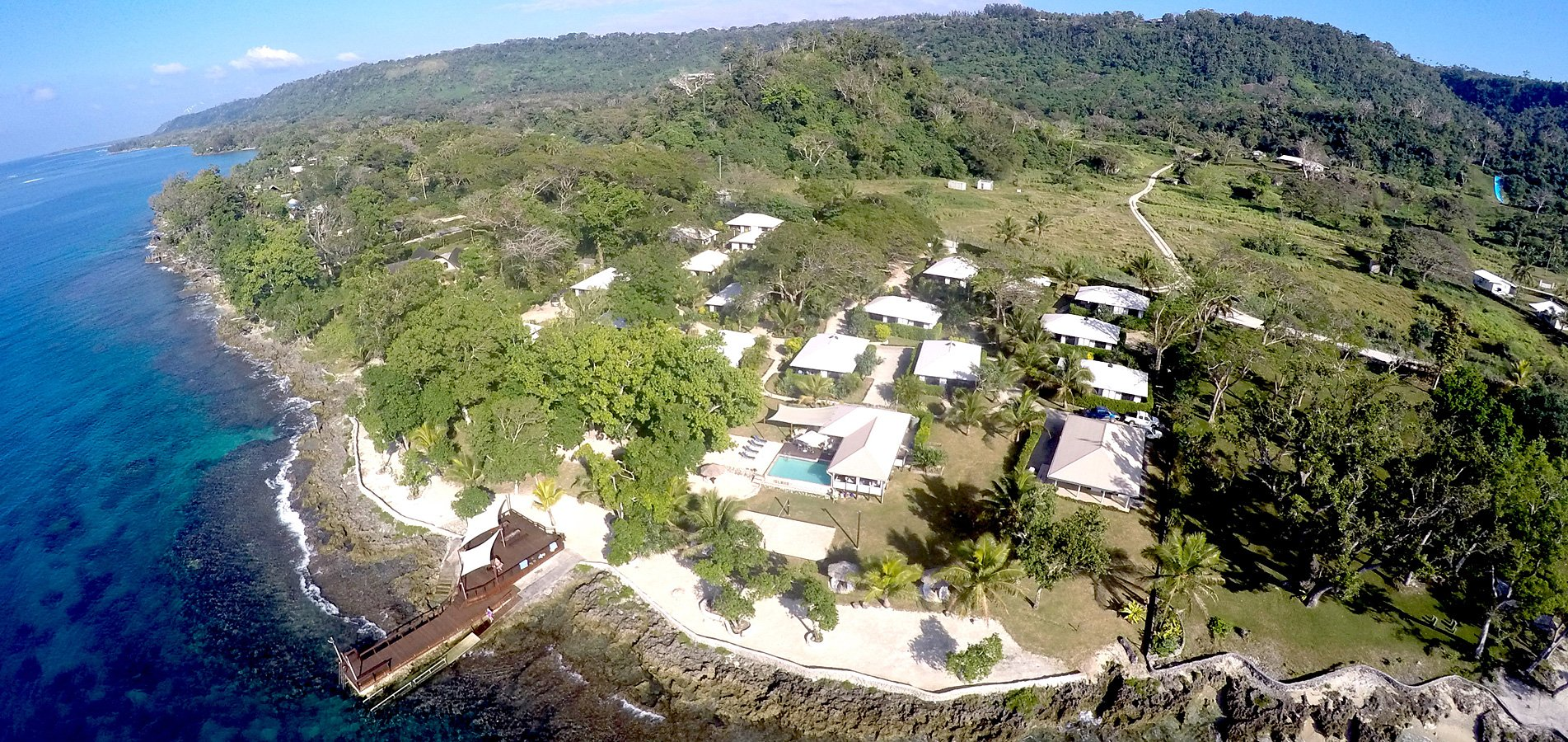 Aerial view of the best resort in Vanuatu