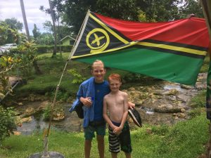 kids enjoying Vanuatu