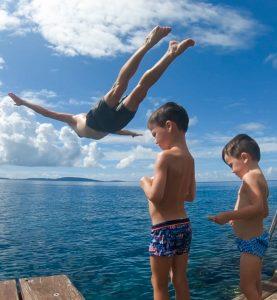 Family Jump Vanuatu