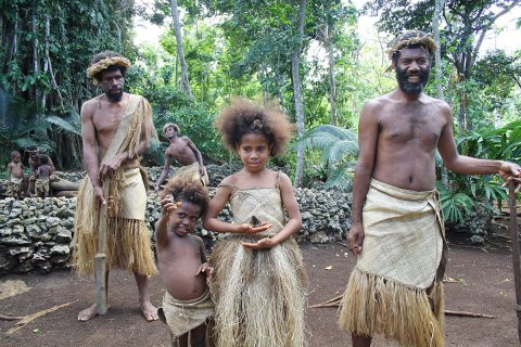 Vanuatu People In Traditional Dress